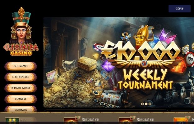 cryptocurrency cleopatra casino