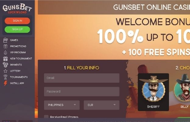 online casinos guns bet